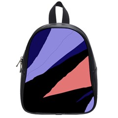 Purple And Pink Abstraction School Bags (small)  by Valentinaart