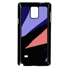 Purple And Pink Abstraction Samsung Galaxy Note 4 Case (black) by Valentinaart