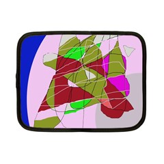 Flora Abstraction Netbook Case (small)  by Valentinaart