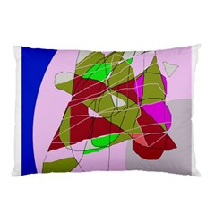 Flora Abstraction Pillow Case (two Sides) by Valentinaart