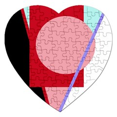 Decorative Geomeric Abstraction Jigsaw Puzzle (heart) by Valentinaart