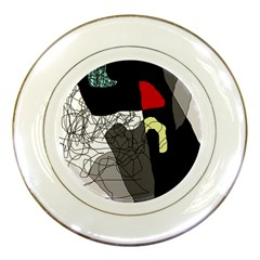 Decorative Abstraction Porcelain Plates by Valentinaart