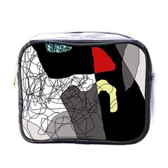 Decorative Abstraction Mini Toiletries Bags by Valentinaart