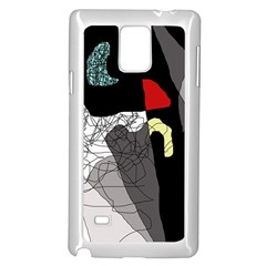 Decorative Abstraction Samsung Galaxy Note 4 Case (white) by Valentinaart