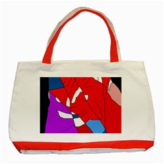Colorful Abstraction Classic Tote Bag (red) by Valentinaart