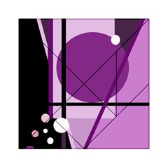 Purple geometrical abstraction Acrylic Tangram Puzzle (6  x 6 )