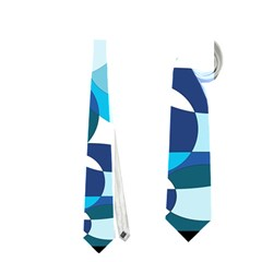 Blue abstraction Neckties (One Side)  by Valentinaart
