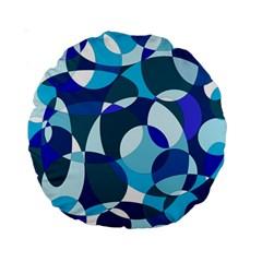 Blue Abstraction Standard 15  Premium Round Cushions by Valentinaart