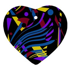 Optimistic Abstraction Ornament (heart)  by Valentinaart