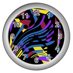 Optimistic Abstraction Wall Clocks (silver)  by Valentinaart