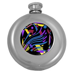 Optimistic Abstraction Round Hip Flask (5 Oz) by Valentinaart