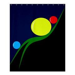 Falling  Ball Shower Curtain 60  X 72  (medium)  by Valentinaart