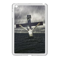 Jesus On The Cross At The Sea Apple iPad Mini Case (White) by dflcprints
