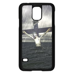 Jesus On The Cross At The Sea Samsung Galaxy S5 Case (black) by dflcprints