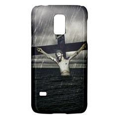 Jesus On The Cross At The Sea Galaxy S5 Mini by dflcprints