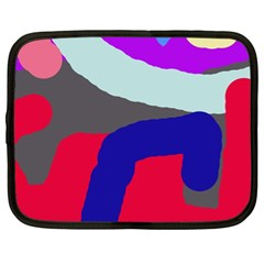 Crazy Abstraction Netbook Case (xl)  by Valentinaart