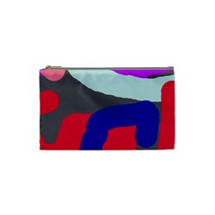 Crazy Abstraction Cosmetic Bag (small)  by Valentinaart