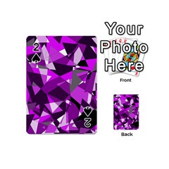 Purple broken glass Playing Cards 54 (Mini)  by Valentinaart