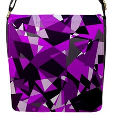 Purple Broken Glass Flap Messenger Bag (s) by Valentinaart