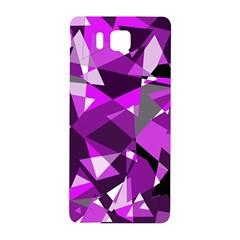 Purple Broken Glass Samsung Galaxy Alpha Hardshell Back Case by Valentinaart