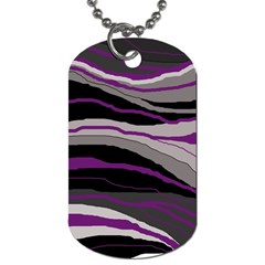 Purple And Gray Decorative Design Dog Tag (one Side) by Valentinaart
