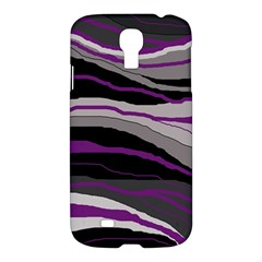 Purple And Gray Decorative Design Samsung Galaxy S4 I9500/i9505 Hardshell Case by Valentinaart