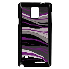 Purple And Gray Decorative Design Samsung Galaxy Note 4 Case (black) by Valentinaart