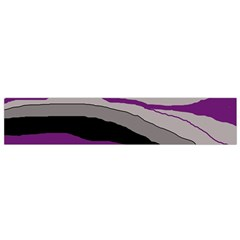 Purple and gray decorative design Flano Scarf (Small) by Valentinaart
