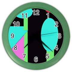 Abstract Landscape Color Wall Clocks by Valentinaart