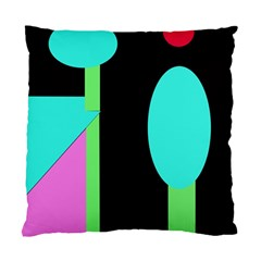 Abstract landscape Standard Cushion Case (Two Sides) by Valentinaart