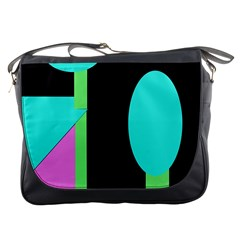 Abstract Landscape Messenger Bags by Valentinaart
