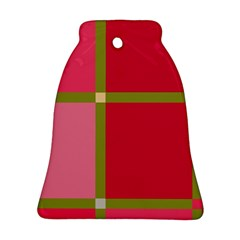 Red and green Bell Ornament (2 Sides)