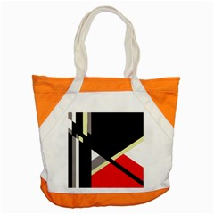 Red And Black Abstraction Accent Tote Bag by Valentinaart