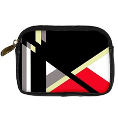 Red And Black Abstraction Digital Camera Cases by Valentinaart
