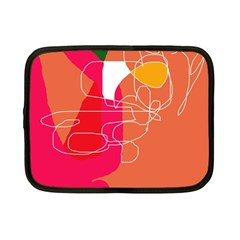 Orange Abstraction Netbook Case (small)  by Valentinaart