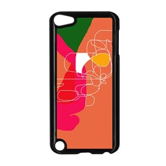 Orange Abstraction Apple Ipod Touch 5 Case (black) by Valentinaart
