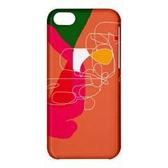 Orange abstraction Apple iPhone 5C Hardshell Case