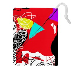 Colorful abstraction Drawstring Pouches (XXL) by Valentinaart