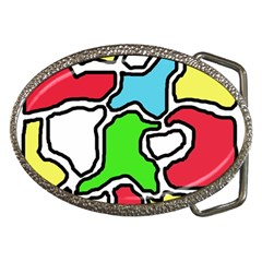 Colorful abtraction Belt Buckles by Valentinaart