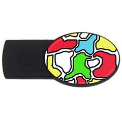 Colorful abtraction USB Flash Drive Oval (2 GB)