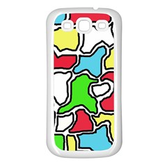 Colorful Abtraction Samsung Galaxy S3 Back Case (white) by Valentinaart