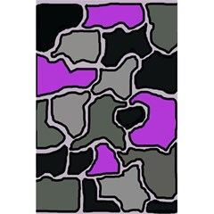 Purple And Gray Abstraction 5 5  X 8 5  Notebooks by Valentinaart