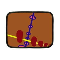 Brown Abstraction Netbook Case (small)  by Valentinaart
