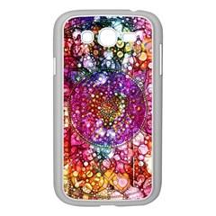 Distressed Mandala Samsung Galaxy Grand Duos I9082 Case (white) by KirstenStar