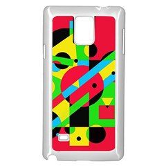 Colorful geometrical abstraction Samsung Galaxy Note 4 Case (White) by Valentinaart