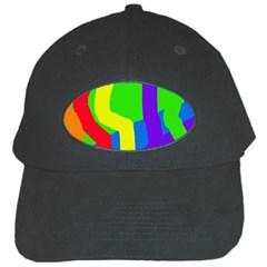Rainbow abstraction Black Cap by Valentinaart