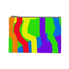 Rainbow abstraction Cosmetic Bag (Large)
