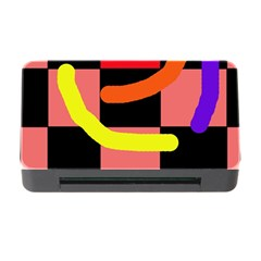 Multicolor Abstraction Memory Card Reader With Cf by Valentinaart