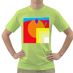 Colorful abstraction Green T-Shirt by Valentinaart