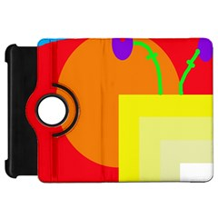 Colorful abstraction Kindle Fire HD Flip 360 Case by Valentinaart